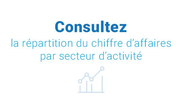 infographie chiffres clés de l'affichage dynamique, répartition du CA par secteur d'activité