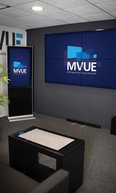 Showroom Mvue Bordeaux, Affichage dynamique