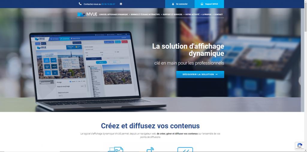 Composition plein écran d'un site internet